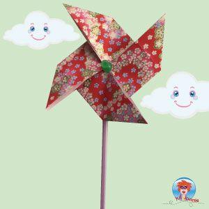 Ik laat je in een filmpje zien hoe je een windmolentje kan vouwen van papier.
