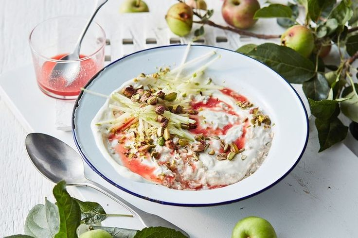 Make the most of apple season with this healthy breakfast bircher recipe.