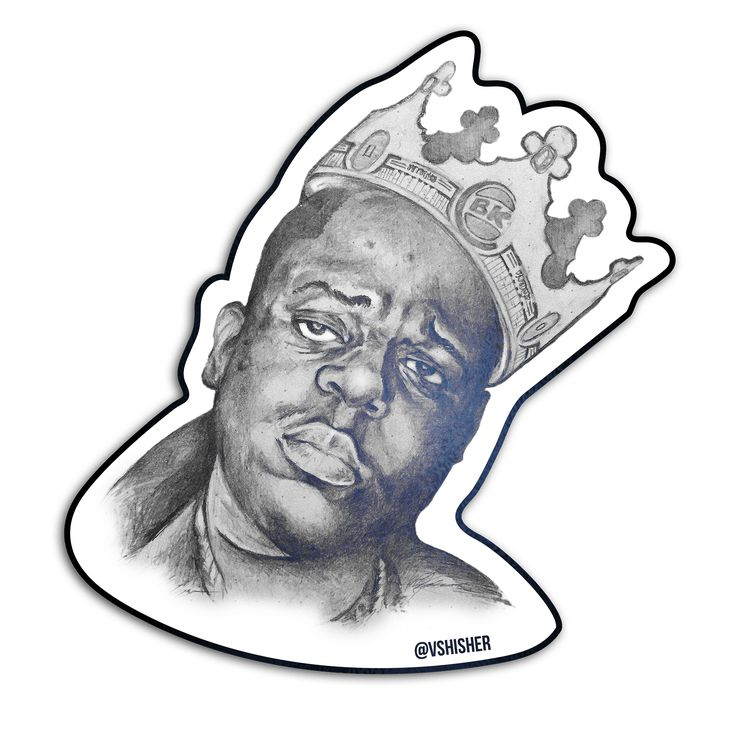 The King of BK The Notorious B.I.G. is the king of Brooklyn and the Burger King. Have it your way with these Biggie Smalls stickers and order individual sets of The King of BK or a whole pack of 10. ............vshisher.com.............