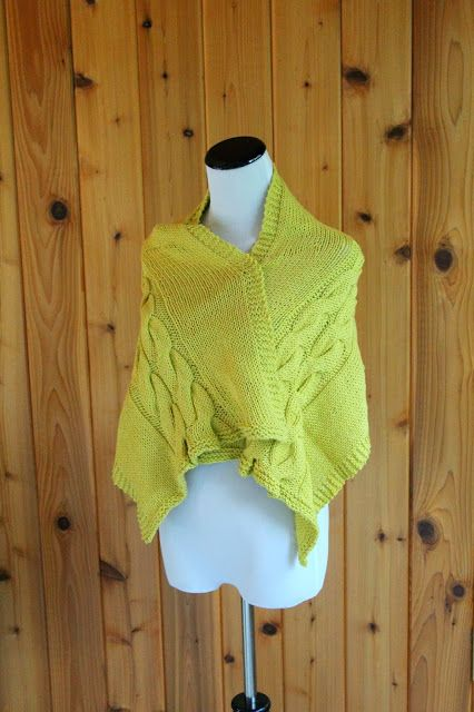 The Fuzzy Square: Sweater Wrap by Loops & Threads
