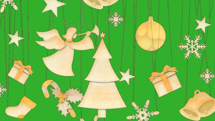 Футаж на хромокее - Рождественский Ангел