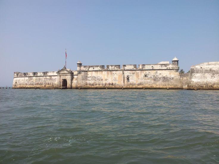 Castillo San José de Bocachica... Lugar donde estuvo preso el prócer Antonio Nariño.. Islas del Rosario