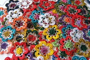 Pop tab flowers!                                                                                                                                                                                 More
