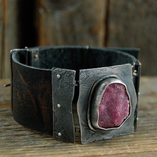 mz studio:sterling and tourmaline cuff