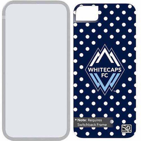 Vancouver Whitecaps FC Polka Dots Design on Apple iPhone 5SE/5s/5 Switchback Extra Backplate by Coveroo