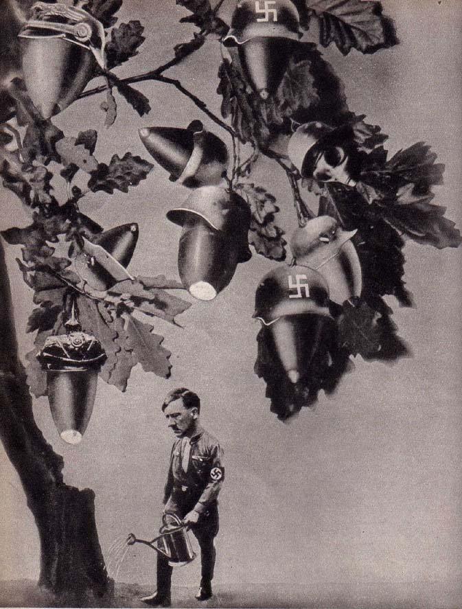 Anti Nazi Photomontages, 1930s, by John Heartfield - Retronaut