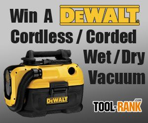 Tool-Rank Giveaway: Win A DeWALT DCV581H Cordless/Corded Wet/Dry Portable Vacuum. #giveaway #contest #sweepstakes