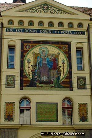 České Budějovice (South Bohemia), Czechia - house detail