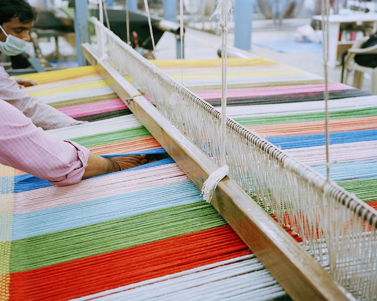 Rugs in the making. Colour enlightment of the production of Danskina's rug Multitone.