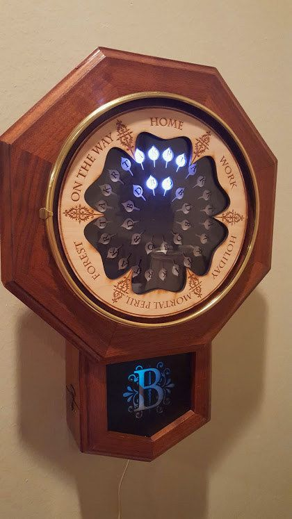 This College Student Used His Family's Cell Phones To Re-Create The Weasleys' Clock