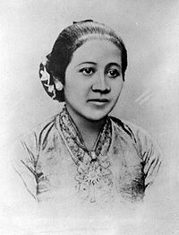 Raden Ayu Kartini, (21 April 1879 – 17 September 1904), or sometimes known as Raden Ajeng Kartini, was a prominent Javanese and an Indonesian national heroine. Kartini was a pioneer in the area of women's rights for Indonesians.