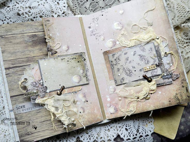 Привет всем!   Иногда так хочется просто пошуршать бумажкой =)  Я давно вынашивала идею сделать обычный скрап-альбом. Без красок, паст и а...