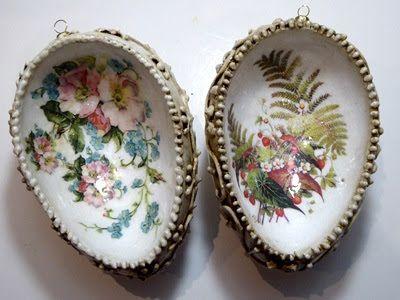 Świat Decoupage -  Mój magiczny Świat : pisanki wklęsłe kwiatowe i reliefowe