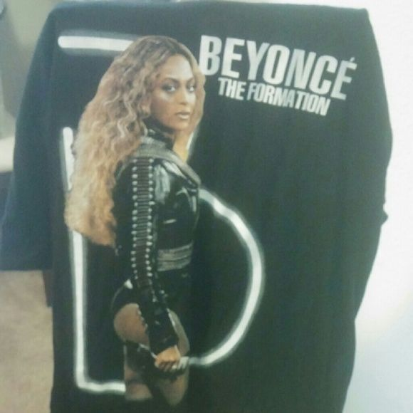 New The Formation Tour T Shirt New Beyonce T Shirt all Black with Formation Print pic Tops Tees - Short Sleeve
