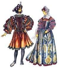 Фото исторического костюма эпохи возрождения во франции