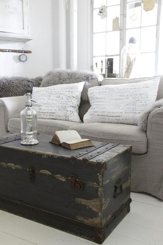 Looking for old antique trunk for storage coffee table for living room to store…
