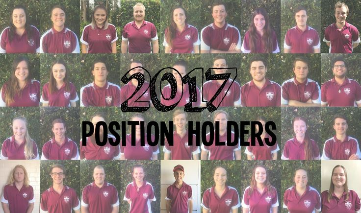 Meet our position holders for 2017.