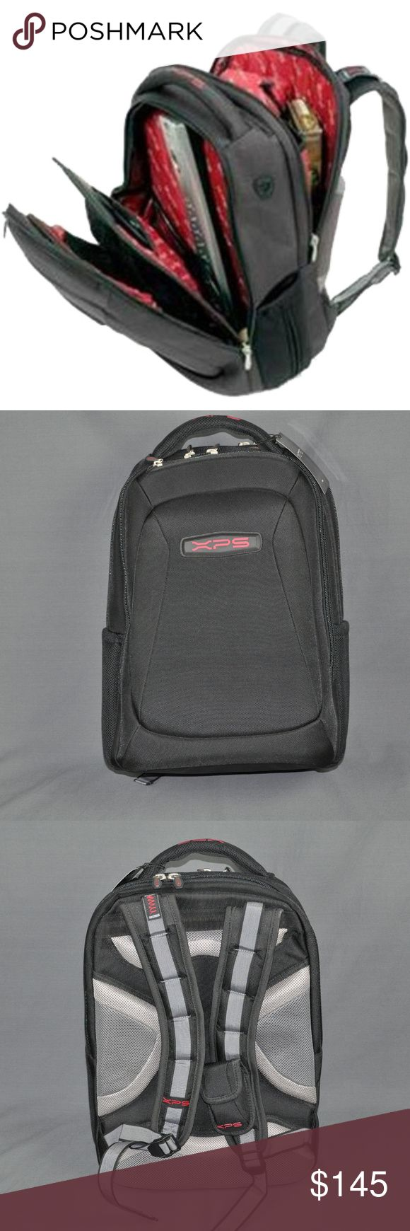 """NWT DELL XPS M1730 17"""" Gaming Laptop Backpack brand new, tag still attached and still in plastic. Made exclusively for DELL. accommodate up to a 17"""" laptop.   Details: shock absorbing shoulder straps, drop protection system, keyboard pocket with elements protection, removable gear storage, removable cd holder & cell phone case, air flow back padding, quick access port, case base stabilizer platform.      Part #JN570  Smoke free pet friendly home. Dell Bags Laptop Bags"""
