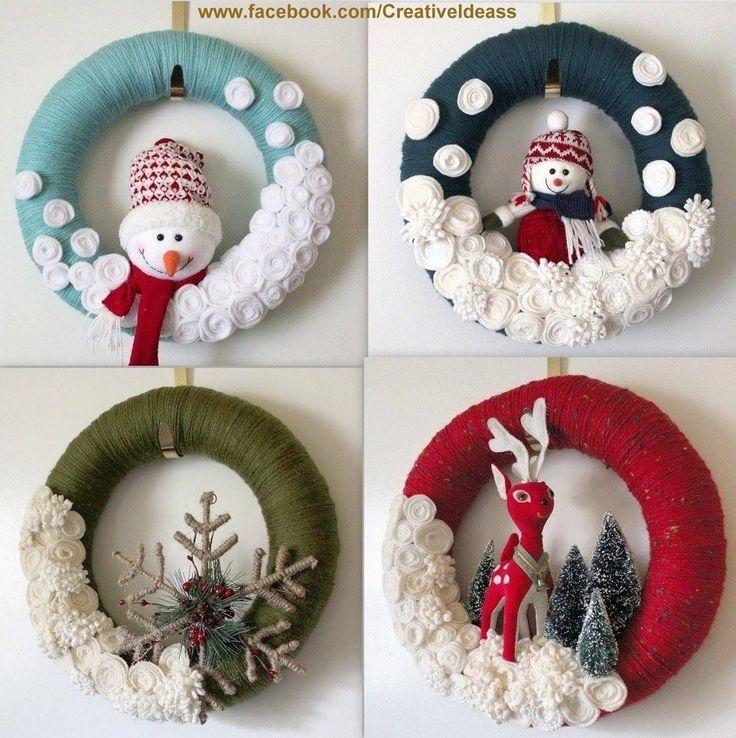 C'est les vacances de Noël, vous avez encore le temps de faire votre couronne de Noël.Je vous assure qu'avec 3 fois rien, vous pouvez créer de très belles couronnes de Noël. Il suffit simplement de prendre le temps pour le faire. Modèles superbes couronnes...