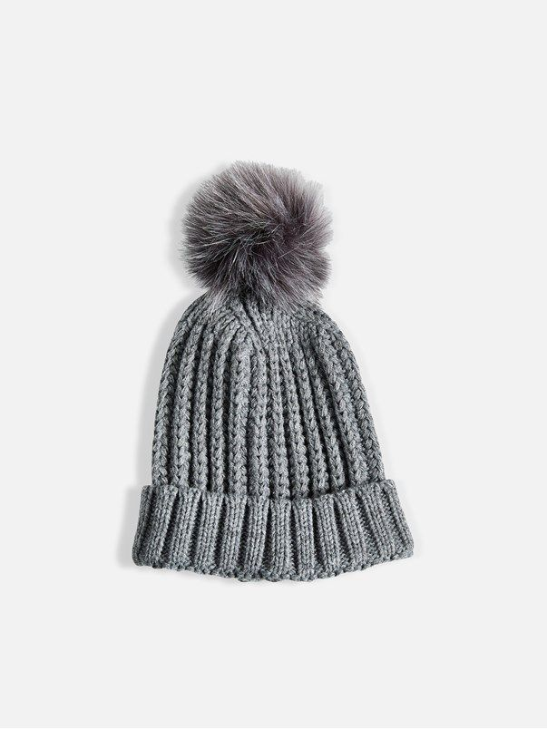 Pommy hat     Lys grå   BikBok   Norge