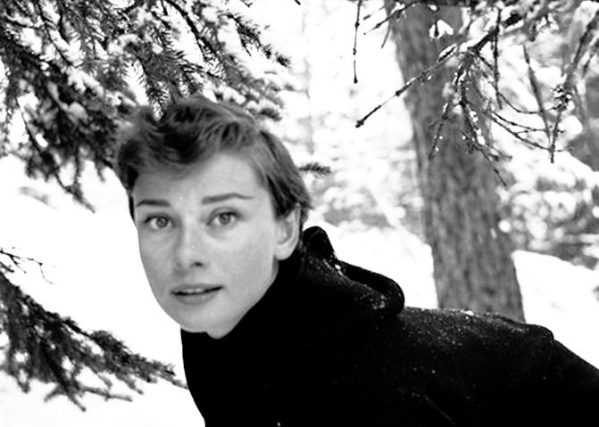 in St. Moritz, Switzerland, December 23, 1954.