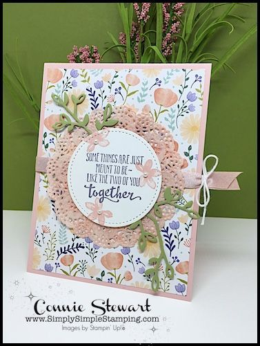 Aww, it's that time of year…. wedding season!  Lots of spring brides and invitations in your mailbox.  How about a simple yet elegant card for the bride & groom?  Today's MAKE IT MONDAY free tutorial