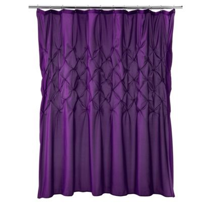 Diamond Tuck Shower Curtain from Target. I'm thinking purples for the bathroom.
