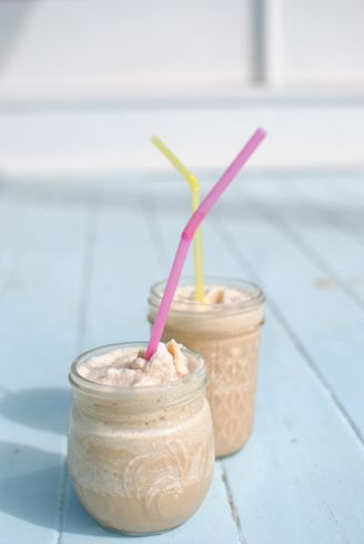 Blended iced coffee treat...I want one now!