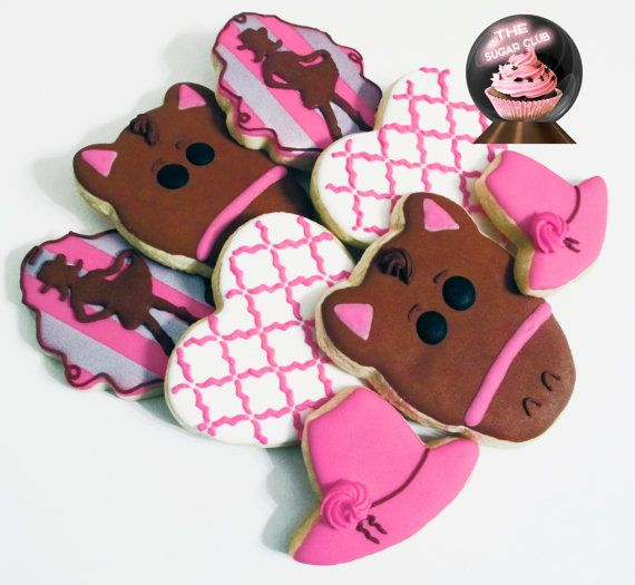 Cowgirl Cookies, Cowgirl Party, Horse Cookies, Cow Girl Party, Pony, Cowgirl Birthday, Decorated Sugar Cookie, Western Theme, Rodeo Cookies