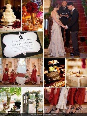 Red Vintage Wedding Reception