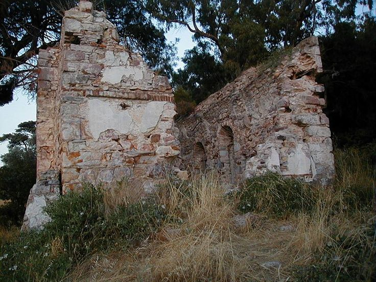 The ruins of Hagia Triada, Moschonisi