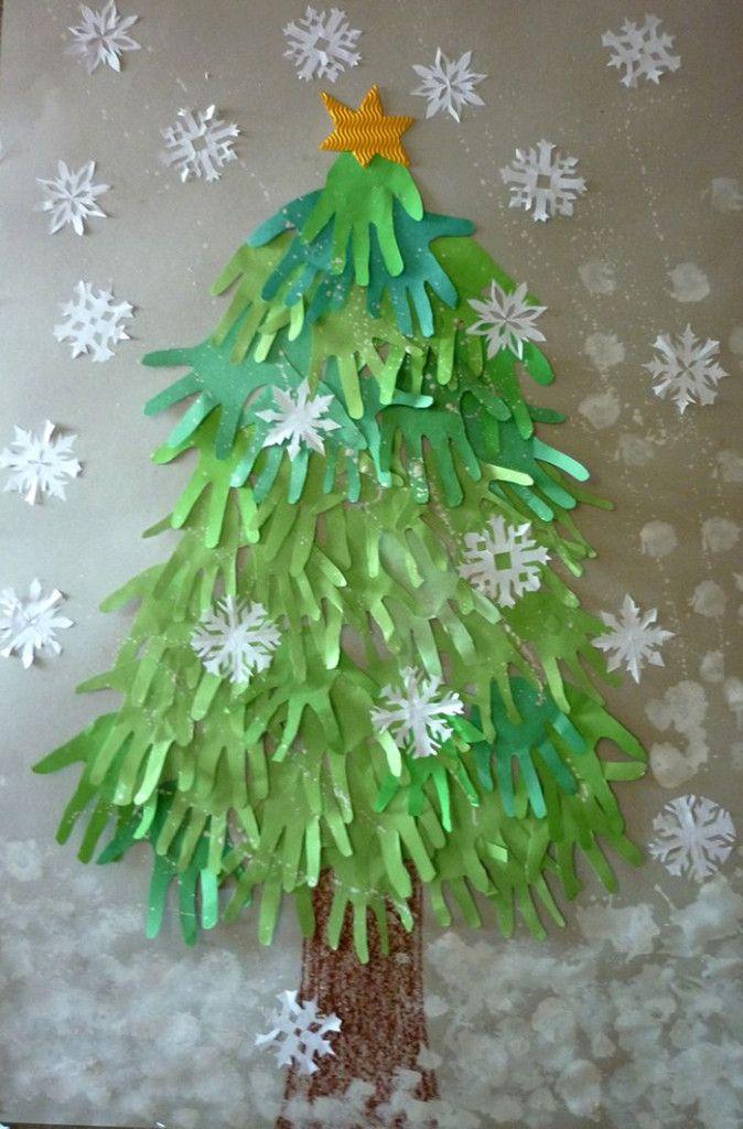 Unechte Weihnachtsbäume-Hände