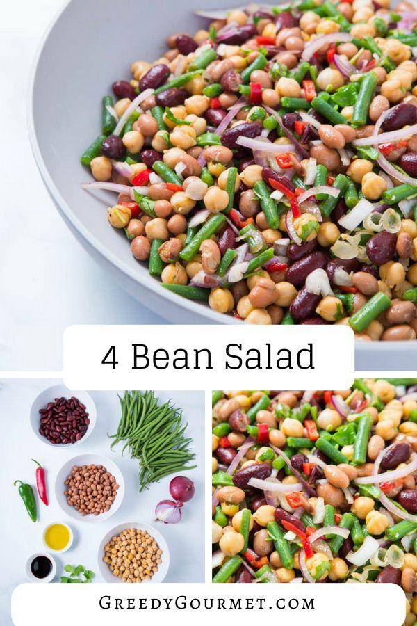 4 Bean Salad The Perfect Four Bean Salad Recipe That Will Rock Your World Recipe Bean Salad Recipes Bean Salad Four Bean Salad