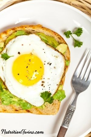 Avocado Egg Sandwich | Satisfying & Delicious | Great Weight Loss Breakfast | Only 159 Calories | For MORE RECIPES please SIGN UP for our FREE NEWSLETTER www.NutritionTwins.com