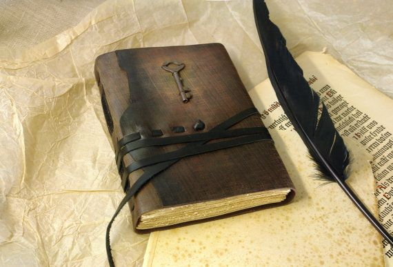 Shakespeare Leather Journal with Key in Vintage by MedievalJourney