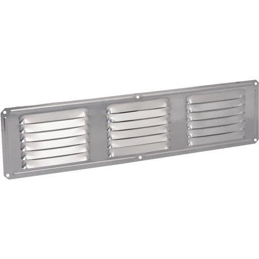 Air Vent Inc. 16X4 Mil Under Eave Vent 84126 Unit: Each Contains 24 per case, Silver aluminum