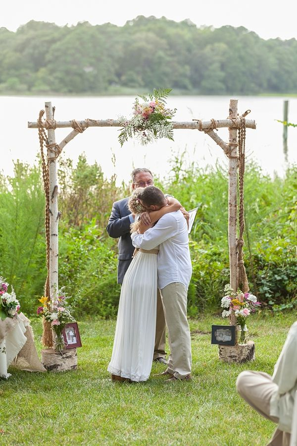 Rustic boho ceremony arch