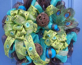 Gerbera Daisy wreath flower wreath deco by WonderfulWreathsKim