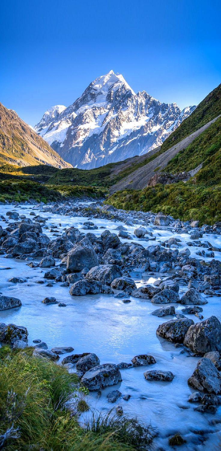 Morning River - Hooker Valley Track, Mount Cook National Park , New Zealand