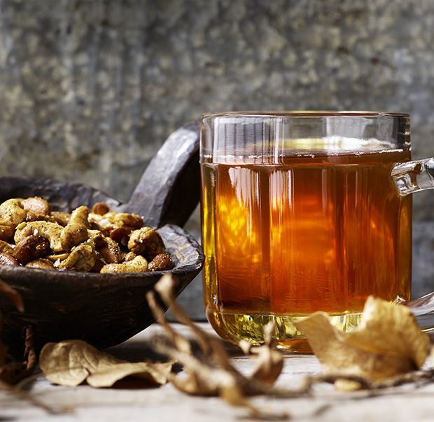 Eschew the normal wine in favour of this festively flavoured mulled ale. Serve alongside nuts and fruits to get the party started.