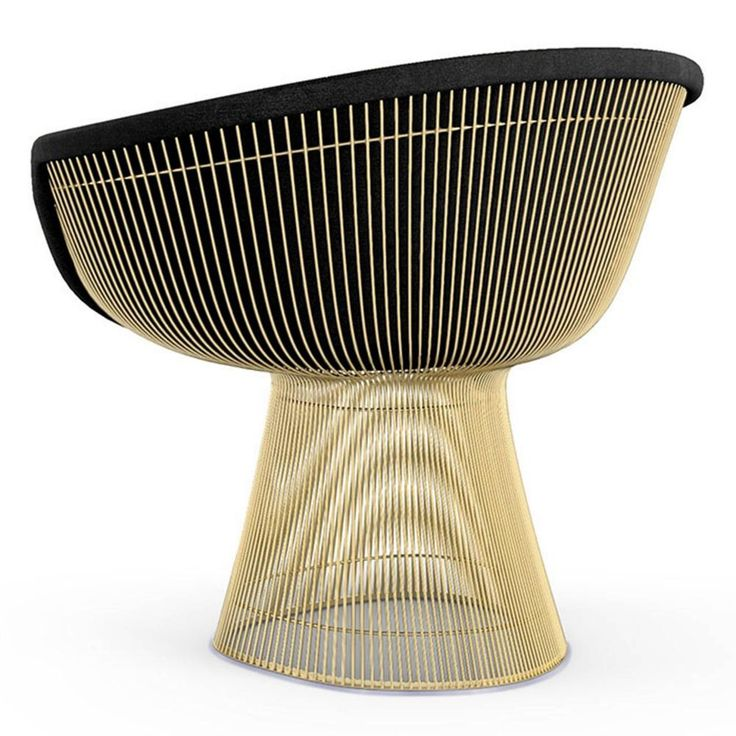 Köp Platner Lounge Chair - 18k guld från Knoll | Nordiska Galleriet
