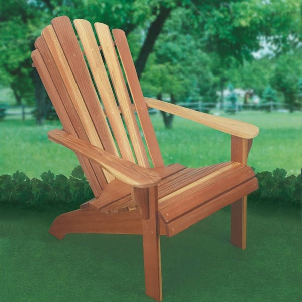 Woodworking project paper plan to build adirondack chair for Schaukelstuhl unterlage