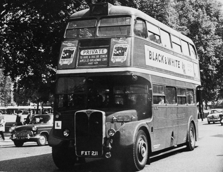 London transport RT68 on route 30 1950's. London