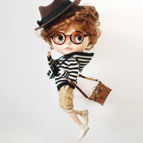 Miss yo hand-knitted Stripes Sweater for Blythe doll - outfit - Black & White   eBay