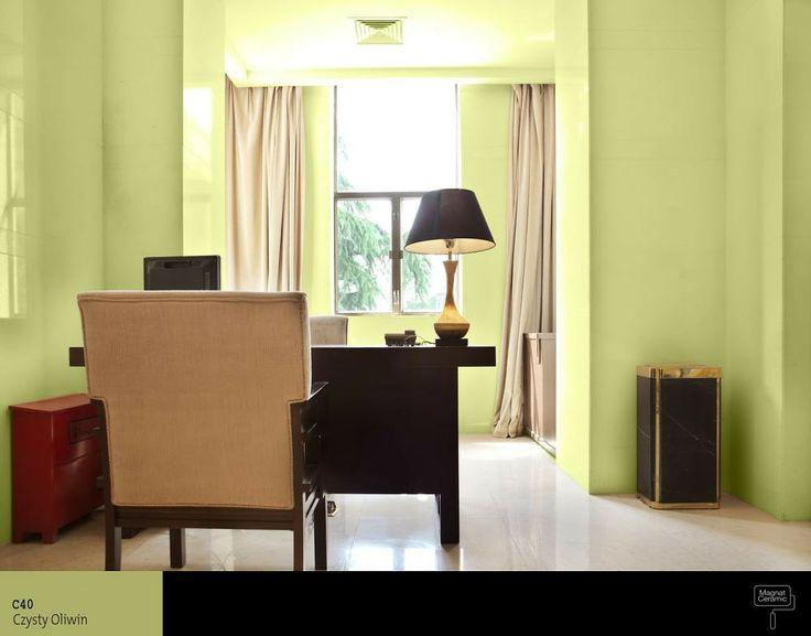 Zielony w pokoju dziennym