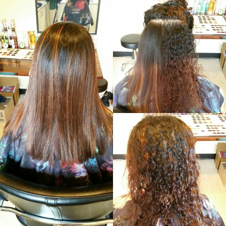 Before and after keratin treatments