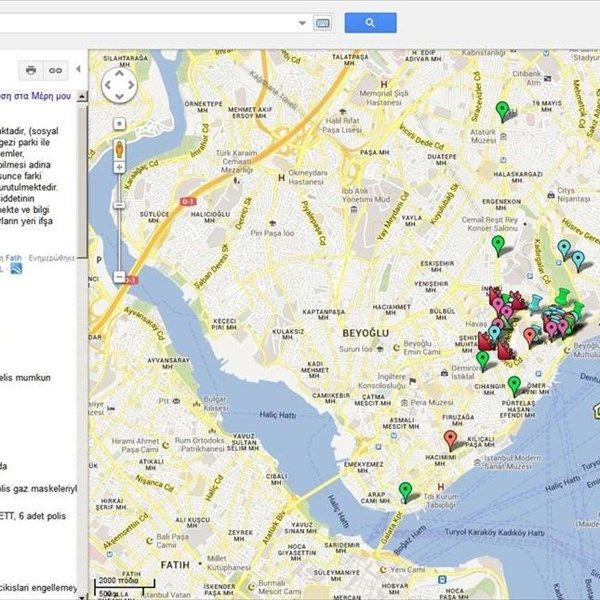 Αναγνώριση» μέσω Google Maps και κρυπτογράφηση από τους Τούρκους διαδηλωτές