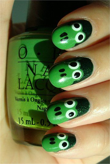 Easy Frog Nails Nail Art Tutorial & Swatch: Nails Art Tutorials, Artists Nails, Frogs Nails Art, Nails Design, Nailart Tutorials, Froggy Nails, Easy Frogs, Frogs Parties, Nails Tutorials