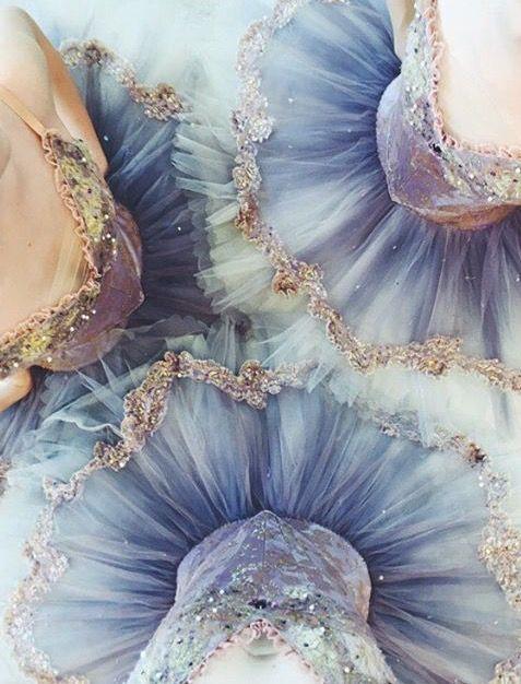 Ballett Tutus in schönem blau