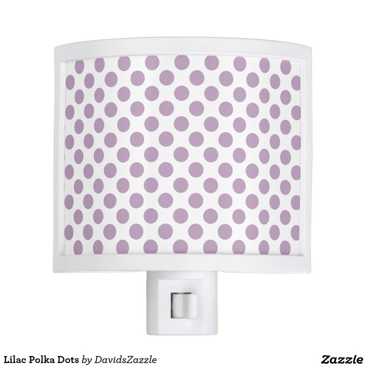 Nice Lilac Polka Dots Night Light Great Pictures